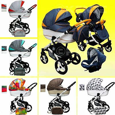 Baby Pram Pushchair Stroller Car seat Buggy option 3in1 and 2,4 in 1 kinderwagen