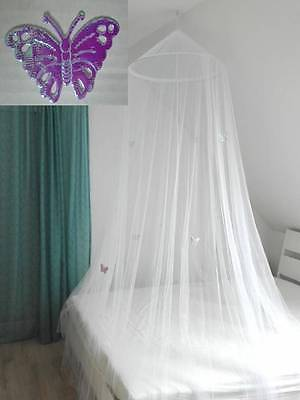 BED CANOPY lilac butterflies