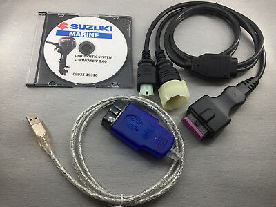 SALE! SUZUKI MARINE Professional Outboard Diagnostic CABLE KIT