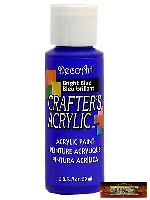M01415 MOREZMORE DecoArt BRIGHT BLUE Crafter's Acrylic All Purpose Paint IZB