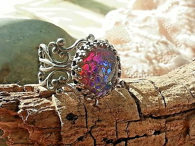 Dragon's Scales Ring SS finish Filigree adjustable medieval Stunning Ring SALE