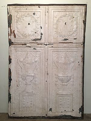 "1 - 36"" x 24"" Antique Ceiling Tin Tile Vintage Reclaimed Salvage Re Purpose Art"