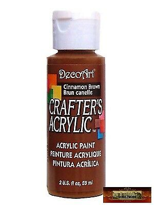 M01427 MOREZMORE DecoArt CINNAMON BROWN Crafter's Acrylic All Purpose Paint A60