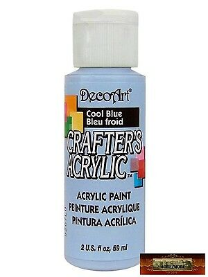 M01430 MOREZMORE DecoArt COOL BLUE Crafter's Acrylic All Purpose Paint IZB