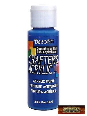 M01431 MOREZMORE DecoArt COPENHAGEN BLUE Crafter's Acrylic All Purpose Paint IZB