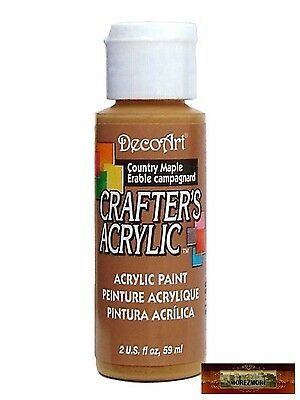 M01432 MOREZMORE DecoArt COUNTRY MAPLE BROWN Crafter's Acrylic Paint IZB