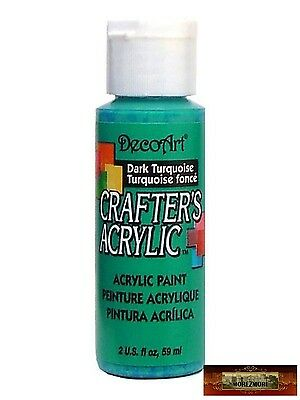 M01478 MOREZMORE DecoArt DARK TURQUOISE Crafter's Acrylic All Purpose Paint IZB
