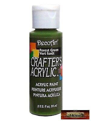 M01439 MOREZMORE DecoArt FOREST GREEN Crafter's Acrylic All Purpose Paint DSI