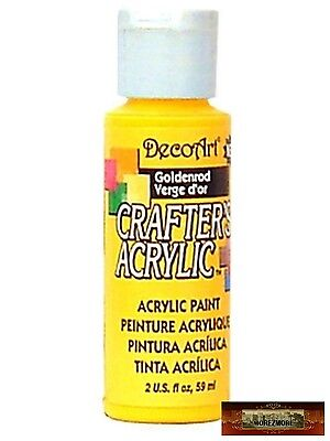 M01442 MOREZMORE DecoArt GOLDENROD Yellow Crafters Acrylic All Purpose Paint A60