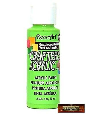 M01444 MOREZMORE DecoArt GRASSHOPPER GREEN Crafter's Acrylic Craft Paint DSI