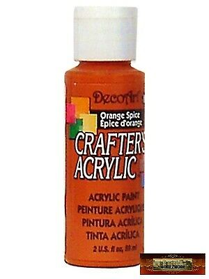 M01456 MOREZMORE DecoArt ORANGE SPICE Crafter's Acrylic All Purpose Paint IZB