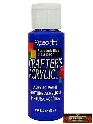 M01458 MOREZMORE DecoArt PEACOCK BLUE Crafter's Acrylic All Purpose Paint IZB