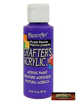 M01463 MOREZMORE DecoArt PURPLE PASSION Crafter's Acrylic All Purpose Paint IZB