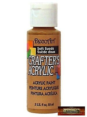 M01468 MOREZMORE DecoArt SOFT SUEDE BROWN Crafters Acrylic All Purpose Paint DSI