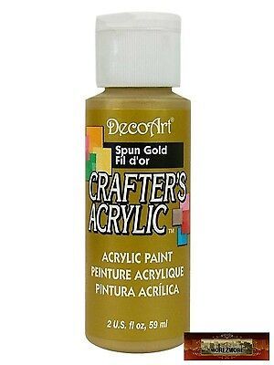 M01470 MOREZMORE DecoArt SPUN GOLD Crafter's Acrylic All Purpose Craft Paint IZB