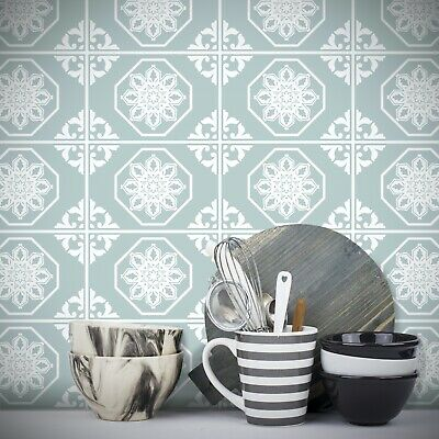 Tile Stickers Transfer Traditional Vintage 150mm x 100mm Kitchen Custom Sizes T3