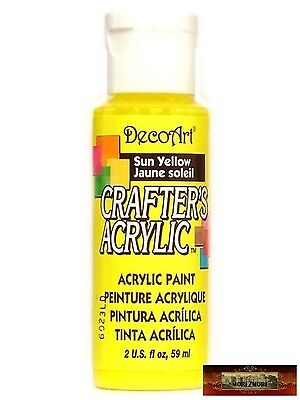 M01473 MOREZMORE DecoArt SUN YELLOW Crafter's Acrylic All Purpose Paint IZB