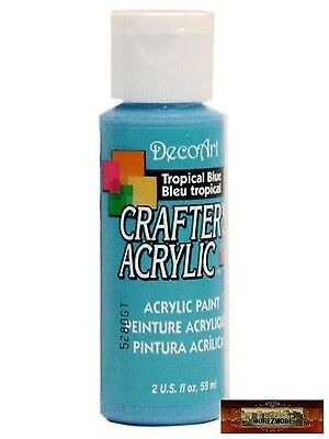 M01476 MOREZMORE DecoArt TROPICAL BLUE Crafter's Acrylic All Purpose Paint IZB