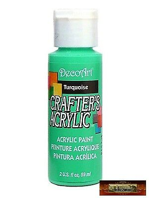 M01434 MOREZMORE DecoArt TURQUOISE Teal Crafter's Acrylic All Purpose Paint IZB