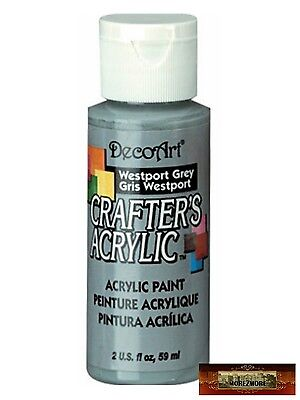 M01481 MOREZMORE DecoArt WESTPORT GREY Crafter's Acrylic All Purpose Paint IZB
