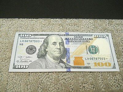 ONE $100 2009A US Hundred Dollar Bill 1 Federal Reserve Star Note LH06787503*