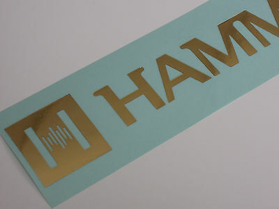 Hammond Organ Dealer Sticker Decal, Gold lettering, clear backing  40cm, genuine