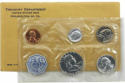 1963 P Silver Proof Coin Set United States Mint