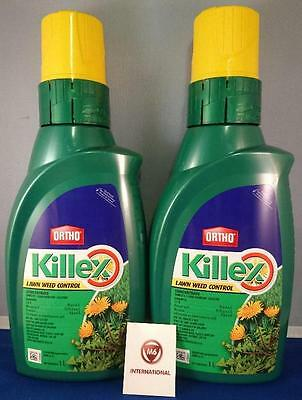 2  Bottles - Killex Weed Control - Herbicide - Concentrate - 1 Litre