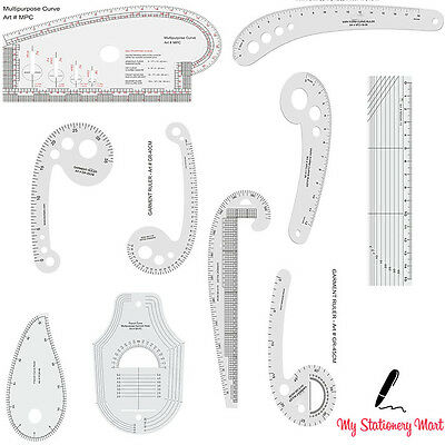 Garment French Curve Fashion Design Quilting Ruler Quilters Patchwork Vary Form