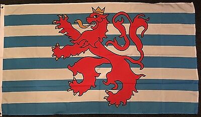 Luxembourg Lion Flag 5x3 Heraldic Medieval Ensign Royal Sport Hotel Lëtzebuerg