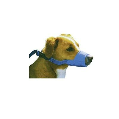 Quick Muzzle for Dogs - Large Blue Safety Adjustable straps Quick release
