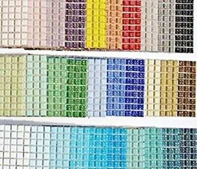 540 Craft Vitreous Glass Mosaic Tiles 1x1cm 30 Different Colours