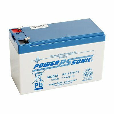 Power Sonic PS1270 12V 7Ah AGM Rechargeable Battery - Suitable for Alarms, CCTV