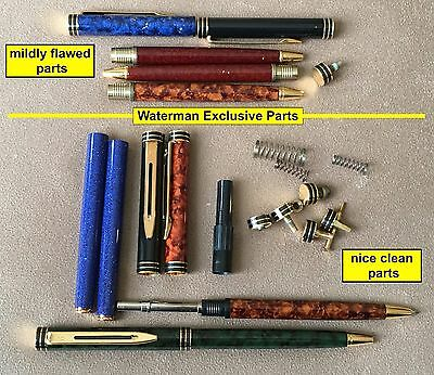 Nice Grouping of Waterman Exclusive Parts, c1990s