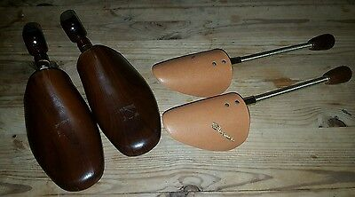 2 pairs of vintage shoe stretchers / trees - Wooden A Jones & metal Shoemaster