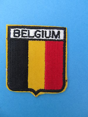 BELGIUM Shield Patch Jacket Biker Vest Backpack Travel Country Crest