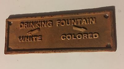Black Segregation Sign Drinking Fountain White / Colored Cast Iron FREE SHIPPING