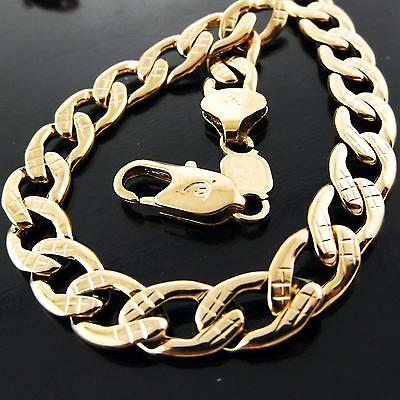 A052 Genuine Real 18K Rose G/f Gold Solid Mens Unisex Retro Link Necklace Chain