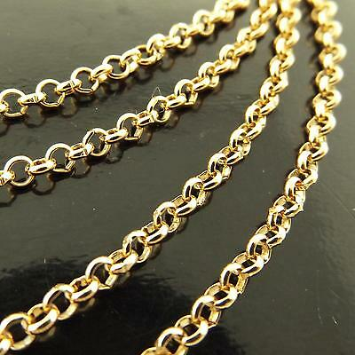210 Genuine Real 18K Yellow G/f Gold Solid Ladies Belcher Pendant Necklace Chain