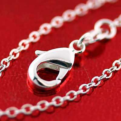 An718 Genuine Real 925 Sterling Silver S/f Very Fine Link Pendant Necklace Chain