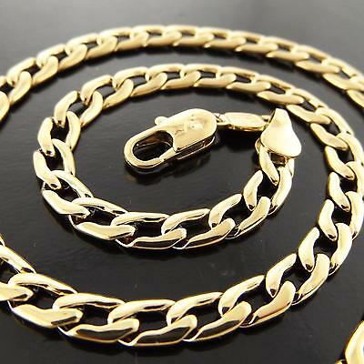 A145 Genuine Real 18K Yellow G/f Gold Solid Mens Ladies Unisex Necklace Chain
