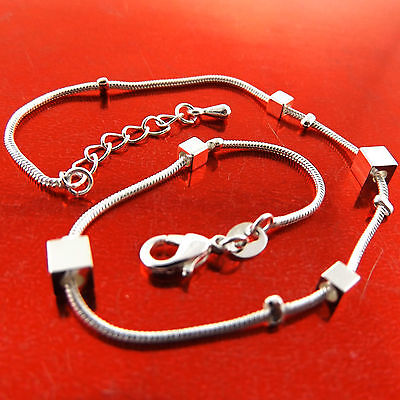 A766 Genuine Real 925 Sterling Silver Sf Ladies Classic Style Xl Bracelet Anklet