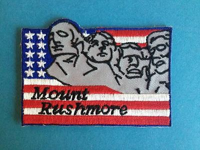 Vintage Mt. Rushmore Iron On Hat Jacket Vest Backpack Travel Patch Crest A
