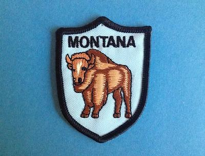 Vintage Montana Iron On Hat Jacket Biker Vest Backpack Travel Patch Crest C