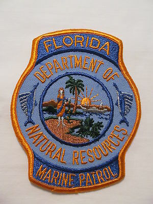 Florida Department of Natural Resourses Marine Patrol Collectible Patch