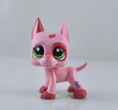 Littlest Animal Pet DANE Pink Dog Child Girl Figure Toy Loose Cute Xmas LPS974