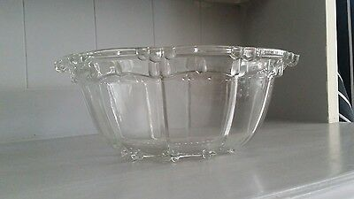 Vintage Style Heavy Glass Large Bowl
