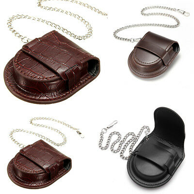Portable PU Leather Holder Storage Case Box Purse Pouch Bag For Pocket Watch