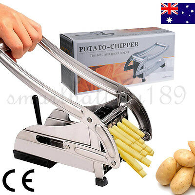 Stainless Steel French Fries Slicer Potato Chipper Chip Cutter Chopper Tool AU