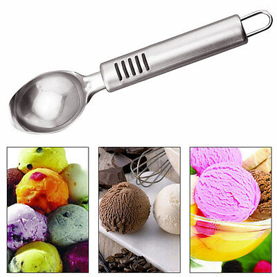 19.5*4.2cm Stainless Steel Ice Cream Watermelon Mash Spoon Handle Hanging Scoop